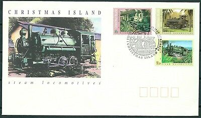 Christmas Island 1994 Fdc Steam Locomotives, Trains Set Of Stamps -Cag 140617