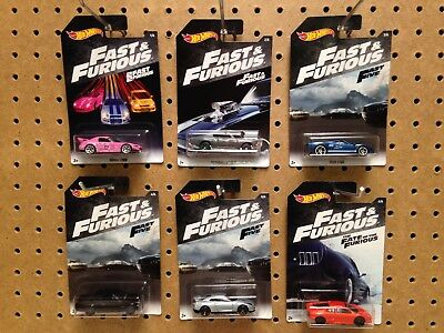 Hot Wheels 2018 Fast And Furious Set New Sealed 6 Cars Skyline Gtr S2000 Jdm