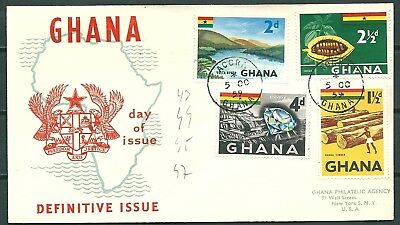 Ghana 1959 Fdc Definitive Issue, Local Products, Accra To Usa -Cag 300617