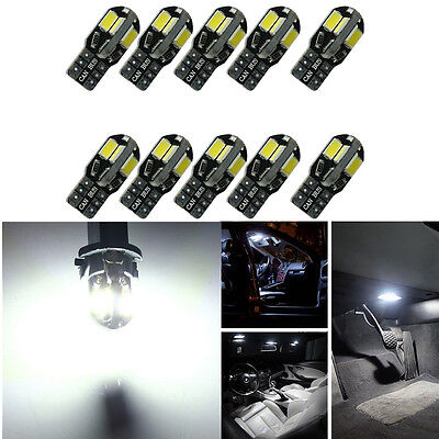 10pcs Canbus Fehler frei T10 weiß 8 5730 SMD LED Auto Seite Keil Licht Lampen