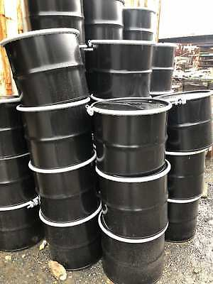 17 Gallon HD Carbon Steel Drum / Barrel w/ Cover Lid & Bolt Ring-New-Lot of 25