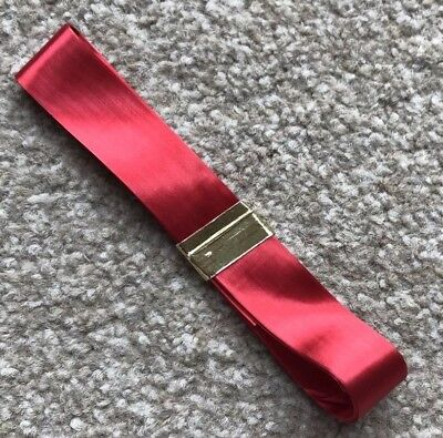 BRAND NEW 2.75m x 2cm SHINY RED RIBBON CAKE DECORATING, GIFT WRAPPING CHRISTMAS