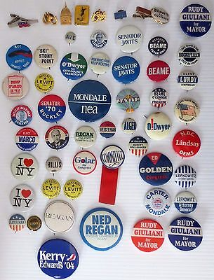 Historical Memorabilia Political 1900's Pin Back Buttons 38 GOVERNORS PRESIDENTS