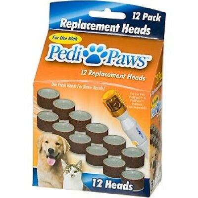 12 pack ASTV Pedi Paws Refill Nail File Trimmer Replacement Heads Pedipaws
