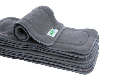20PCS Bamboo Charcoal Insert 5Layers Liner Absorbent for Baby Cloth Diaper