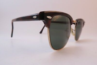d2614fb07aed6 Vintage B L Ray Ban Clubmaster sunglasses USA etched BL WO366 men s medium