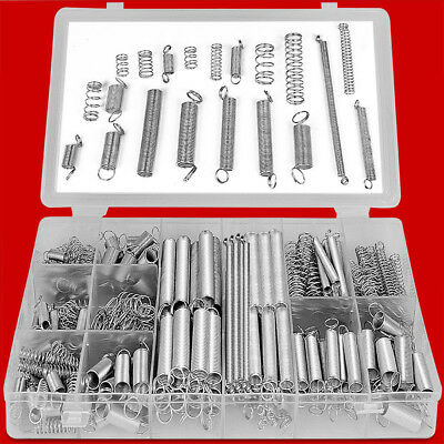 200pcs SPRING SET EXTENDED COMPRESSION EXPANSION TENSION SPRINGS ZINC IN TRAY