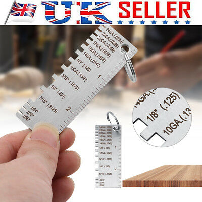 Wire Gauge Thickness Measuring Tool Wire/Sheet Metal Gage Measurement Plate UK