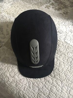 Champion riding hat, navy suede BRAND NEW