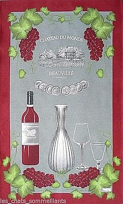 Beauville, Millesime (Wine Vintage / Year) French Tea / Kitchen Towel, New
