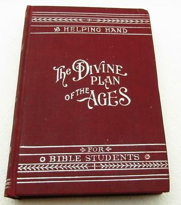 1905 Helping Hand The Divine Plan Of The Ages Watch Tower Bible Antique Book