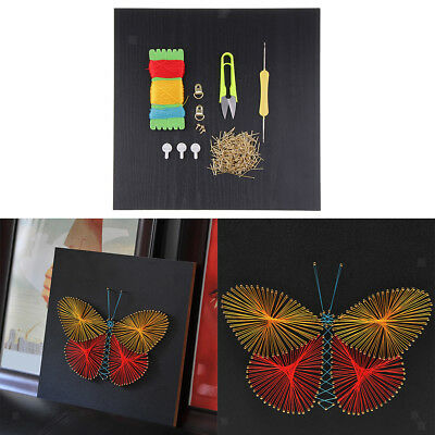 Vintage Pins String Art Kit DIY Butterfly Winding Painting for Kids Gifts