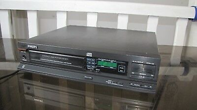 vintage platine lecteur cd compact disc player  philips cd 371 made in belgium