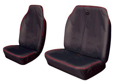 2013 TOYOTA PROACE BLACK WATERPROOF VAN SEAT COVERS 2-1