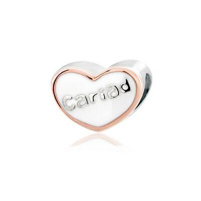 BRAND NEW Clogau Silver & Rose Gold Cariad Bead Charm SAVE £15 OFF RRP £59