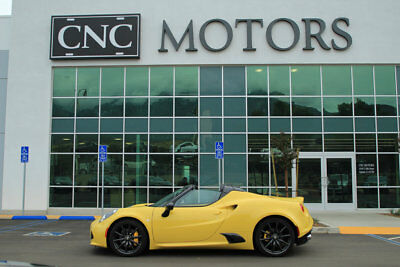 2016 Alfa Romeo 4C 2dr Convertible Spider 2016 Alfa Romeo 4C Convertible Spider in Yellow Only 43 Miles Loaded CNC Motors