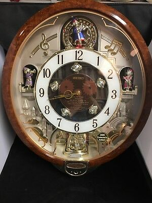 Seiko Wall Clock 2006 Special Edition With Swarovski Crystals  Plays 8 Melodies