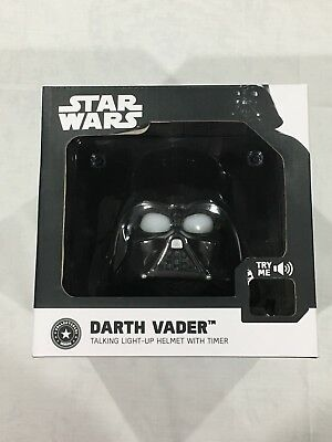 Star Wars Darth Vader Talking Light-Up Helmet with Time Collectibles Series