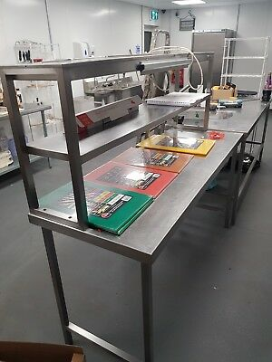 Commercial Stainless Steel prep Table 2 Tier