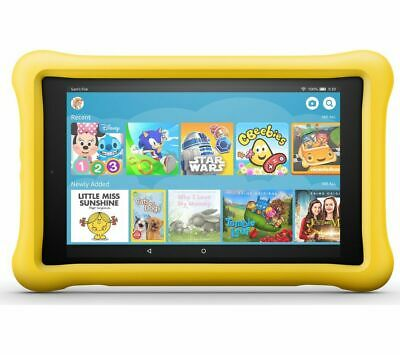 """AMAZON Fire HD 8"""" Kids Edition Tablet (Oct 2018) - 32 GB, Yellow - Currys"""