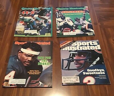 Sports Illustrated Lot of 4 Chicago Bears Covers, Great Shape