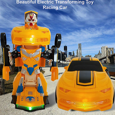 New Battery Operatd Transformer Bumble Bee Car Light & Sounds Action Bump Go Toy