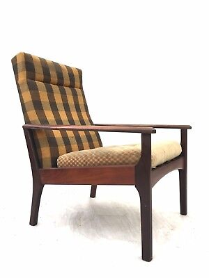 Vintage Retro Mid Century Afromosia Chair 1960s Danish Modernist Easy Chair