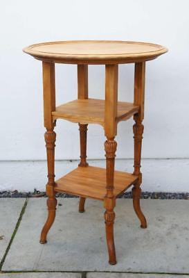 Victorian Beech 3 tier round occasional  or wine table