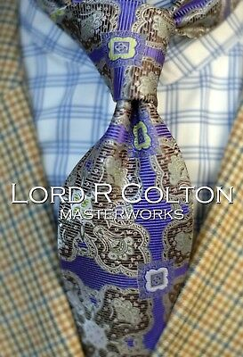 New Pisa Amethyst Colorful Woven Necktie Lord R Colton Masterworks Tie