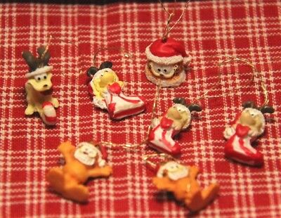 Sweet Lot MINI Garfield the Cat & Odie the Dog Christmas Ornaments!