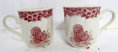 2- Queens Made in Columbia Myott Thanksgiving cups