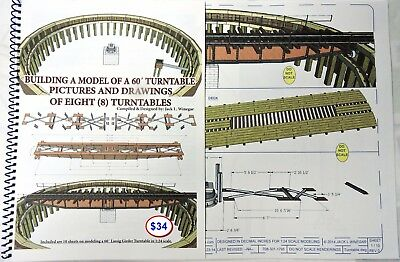 """BUILDING A MODEL OF A 30"""" RAILROAD TURNTABLE - LITE Booklet large-scale modelers"""