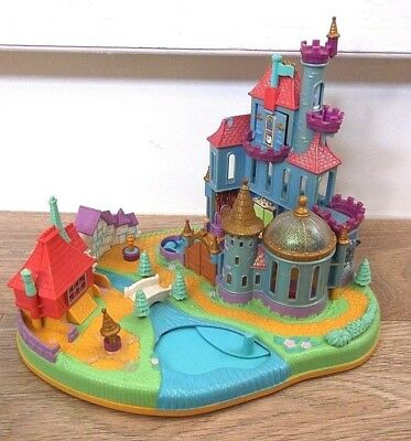 Disney Vintage-Polly-Pocket Toy Beauty and the Beast castle
