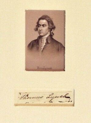 Thomas Lynch Jr. - Second-rarest Signer of the Declaration of Independence