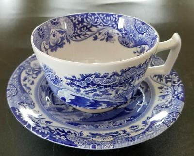 Spode China Italian Blue Cup and Saucer Set