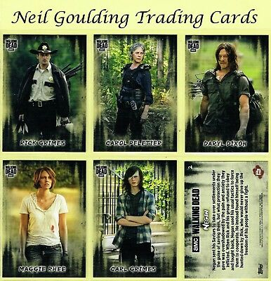 The Walking Dead - HUNTERS & THE HUNTED ☆ Complete Set of 100 Base Cards ☆