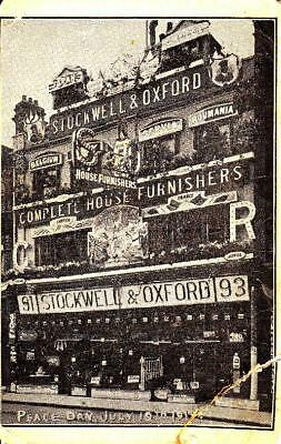 S96. Stockwell and Oxford House Furnishers. Croydon.Peace Day 19th July, 1919