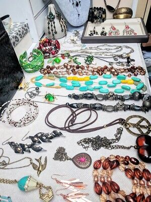 Job Lot Of Mixed Used Costume Jewellery for wear resell repurpose