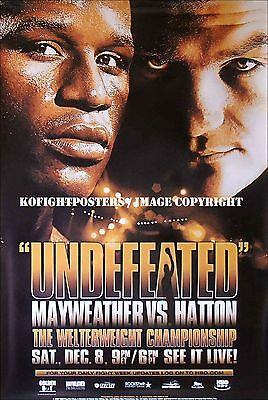 FLOYD MAYWEATHER JR vs. RICKY HATTON / Original Full-Size HBO Boxing Poster A