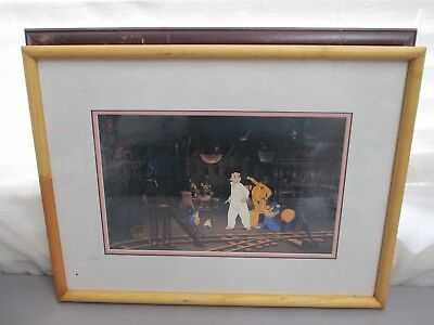 "Original Hand Painted Production Cartoon Cel Nemo Framed 20"" X 15"" Excellent Car"