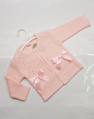 Baby Girls Gorgeous Spanish Double Ribbon Bow Cardigans up to Age 36mths