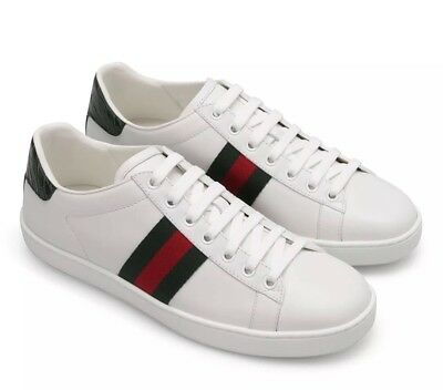 ac9db5b0fba GUCCI WOMEN S NEW Ace White Leather Bee Sneakers Size 38.5  620 ...