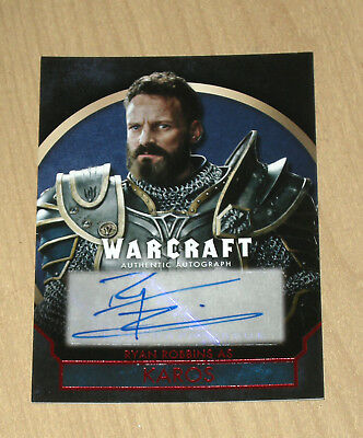 2016 Topps Warcraft RED auto autograph Ryan Robbins 3/25