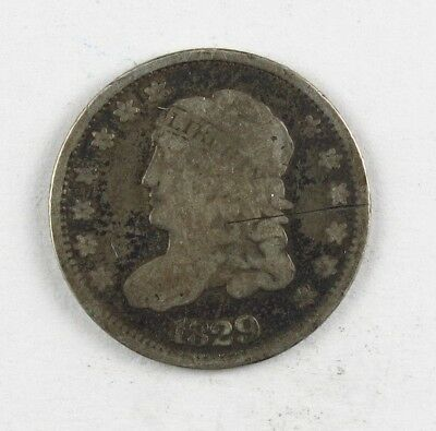 1829 Capped Bust Half Dime United States Silver Coin #12