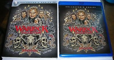 WARLOCK COLLECTION : 3 Film Set BLU-RAY Vestron NEW Sleeve Slipcase Slipcover