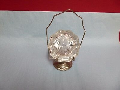 Vintage Glass Coaster Set With Metal Stand