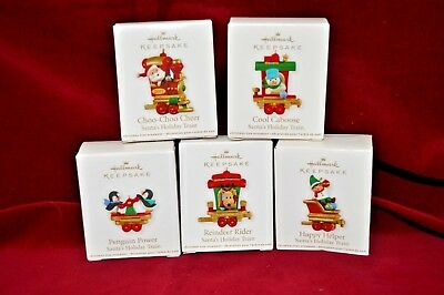 2011 Hallmark Keepsake Ornaments ~ Santa's Holiday Train Complete Set of 5 NEW!