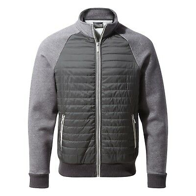 e9ec1f947 Craghoppers Mens Sandover Hybrid Insulated Jacket Black Pepper Grey Cma1243