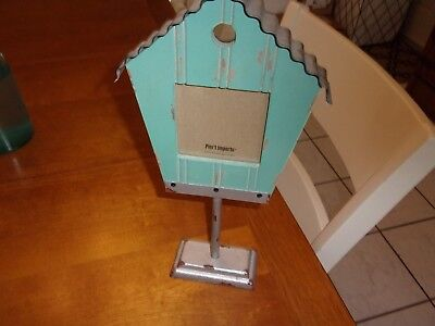 pier one 1 tin silver sage blue house shabby rustic picture frame