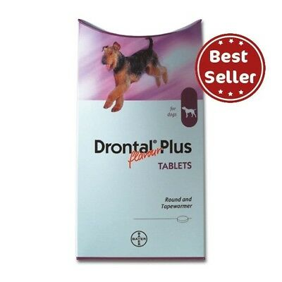 Bayer Drontal Plus for Dogs & Puppies (120 Tablets) Tapeworm Dewormer USA Seller